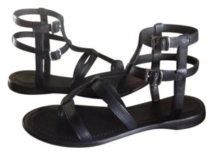 Frye Gladiator Leather Black Sandals
