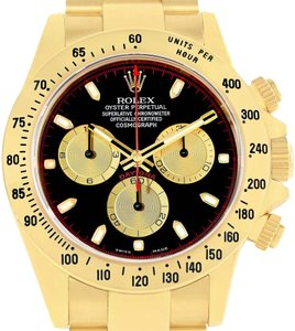 Rolex Rolex Cosmograph Daytona Yellow Gold Black Dial Watch 116528 Box Paper