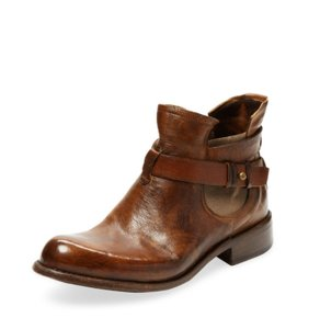 Bed|Stü Teak Leather Ankle Leather Leather Taupe Boots