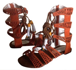 Jeffrey Campbell Gladiator Orange/Rust/Multi Suede Rust/Multi Sandals