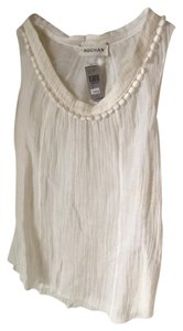 Rochas Linen Embellished Double Lined New Top Creme