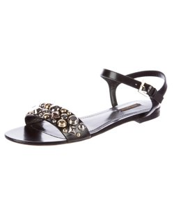 Louis Vuitton Ankle Strap Hardware Hardware Embellished Lv Black, Gold, Silver Sandals