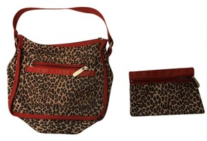 LeSportsac Leopard and Red Clutch