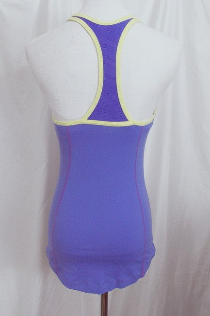 Nike Nike Fit Dry Athletic Tank Top Built In Bra Racer Blue Chartreuse