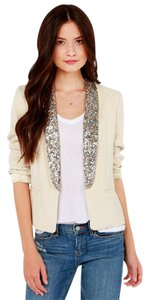 BB Dakota Sequin Glam Glitter Beige Blazer