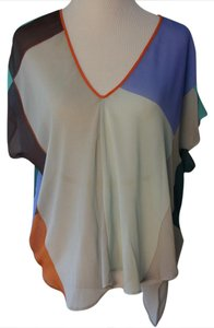Clover Canyon Top Blue, Orange, Taupe