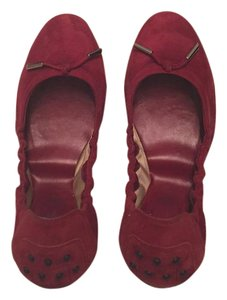 Tod's Suede burgundy Flats