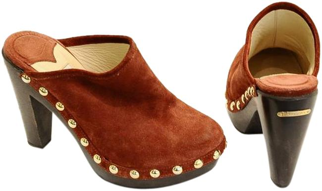 Item - Rust Studded Suede Mules/Slides Size US 7 Regular (M, B)