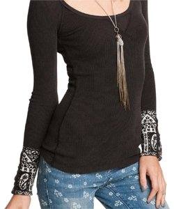 Free People Thermal Rare Cuff Embellished Stud Sweater