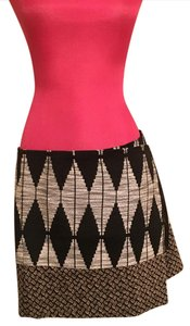 Rachel Roy Mini Skirt black beige