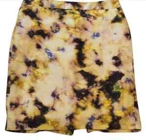 J.Crew Skirt Multi: cream, black, purple, yellow, blue
