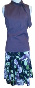 Ann Taylor LOFT Feminine Comfortable Complete Outfit Perfect Top Avail For $7. Skirt purple and floral