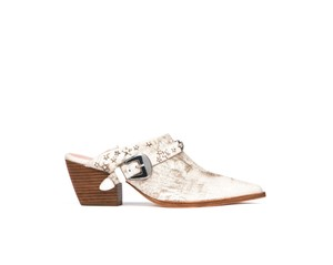 Matisse Kate Bosworth Leather Vintage Studded White Mules