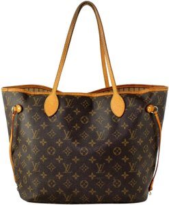 Louis Vuitton Neverfull Mm Canvas Satchels Tote in Monogram