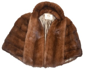 1950's Vintage Mink Cape Fur Coat Cape