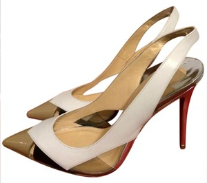 Christian Louboutin Slingback Air Chance Pvc White, Nude, Black, Silver Sandals