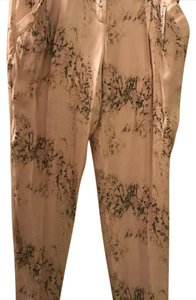 Theory Trouser Pants Blush Pink with green/white/pink florals