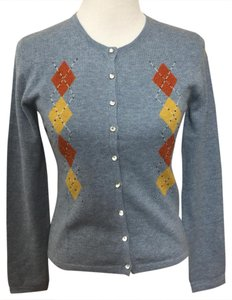 Bonnie and Bill Argyle Rhinestone Sweater Cardigan