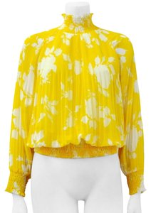 Gracia Floral Ruffle Top Yellow
