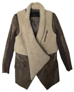 Yigal Azrouël loden gray Leather Jacket