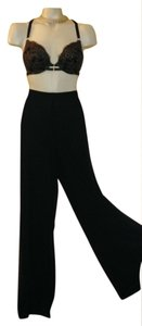 Tadashi Shoji Palazzo Designer Evening Formal Resort Wide Leg Pants Black