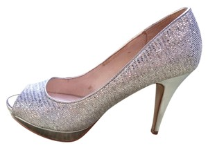 ALDO Wedding Spring Dance Stiletto Silver Pumps