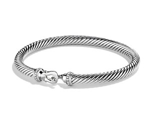 David Yurman Cable Buckle Bracelet with Diamonds (5mm)
