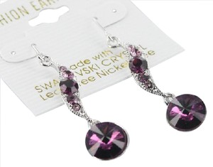 Swarovski Genuine Swarovski Crystal Purple Drop Earrings