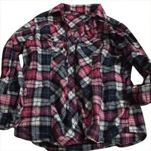 Great Northwest clothing company Button Down Shirt plaid pink/white/blue