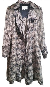 3.1 Phillip Lim Silk Trench Print Long Blouse Trench Coat