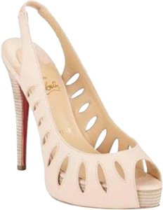 Christian Louboutin Slingback Griff Sling Cutout Natural (beige) Sandals