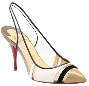 Christian Louboutin Slingback Pvc Highway White, Nude, Black, Silver, Taupe Sandals