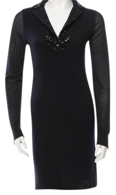 Preload https://img-static.tradesy.com/item/20814739/iisli-navy-neiman-marcus-sweater-tunic-sp-designer-mid-length-cocktail-dress-size-4-s-0-2-650-650.jpg