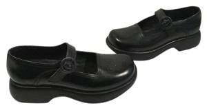 Dansko Black leather leather lining padded insoles footstrap butterfly pattern E37 clogs Mules