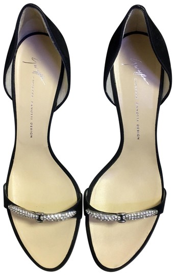 Preload https://img-static.tradesy.com/item/20814835/giuseppe-zanotti-black-and-silver-new-suede-heels-w-crystals-at-vamp-formal-shoes-size-us-7-regular-0-3-540-540.jpg