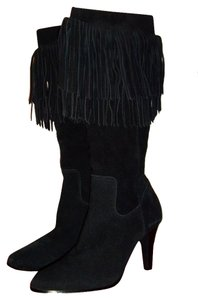Coconuts Coconut Sioux Fringed Knee Black Boots