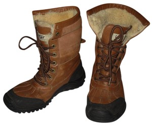 UGG Australia Winter Snow Adirondack Ii Sheepskin Brown Boots