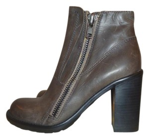 Steve Madden Ankle Leather Sz.6 Gray Boots