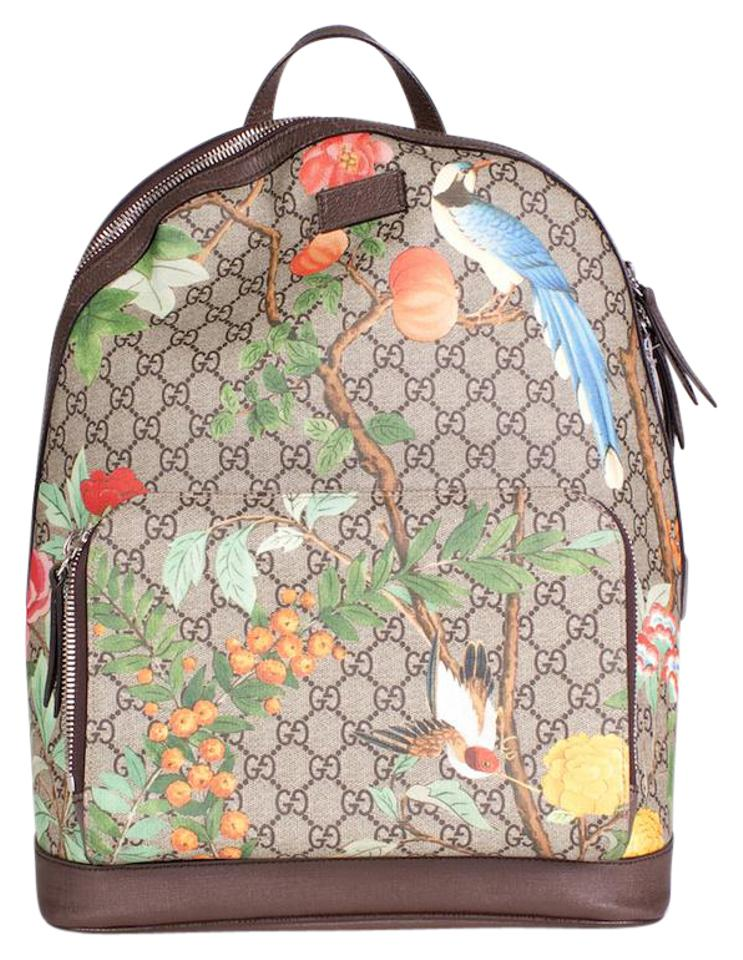 a0c0032ac Gucci GG Supreme Tian Brown Multi Leather Backpack - Tradesy
