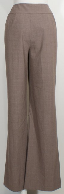 St. John Wide Leg Pants Morel Brown Heather