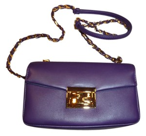 Fendi Purple Clutch