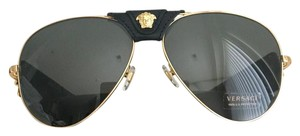 Versace NWT Medusa VE 2150-Q Sunglasses Black-Gold