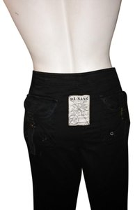 Da-Nang Zippers Embroidered Jeans Cargo Relaxed Pants black
