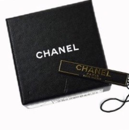 Chanel Gunmetal Link & Resin CC Charm Necklace