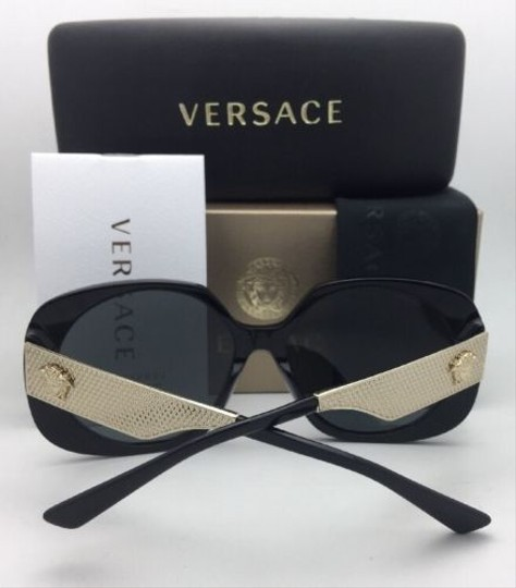 Versace New VERSACE Sunglasses VE 4331 GB1/87 57-16 140 Black & Gold w/ Grey
