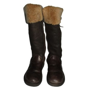 UGG Australia Bomber Jacket Sheepskin Locarno Tall Brown Boots