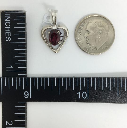 Other 14K White Gold Natural Pink Tourmaline Heart Pendant