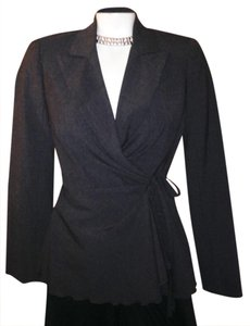 Trina Turk Wraparound Career Night Out Evening Charcoal grey Jacket