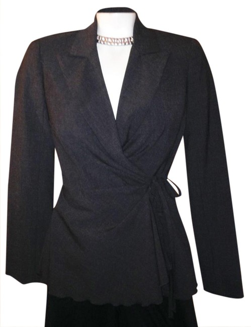 Preload https://img-static.tradesy.com/item/20815161/trina-turk-charcoal-grey-wrap-tie-topjacket-sale-steal-it-blazer-size-2-xs-0-1-650-650.jpg