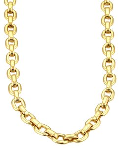 Cartier Cartier 18k Yellow Gold Oval Flat Link Chain Necklace 17